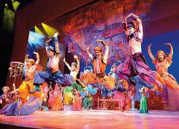 Musical Stuttgart Aladdin Jasmin Dschinni Musik Festpiel Deutschland | © Stage Entertainment